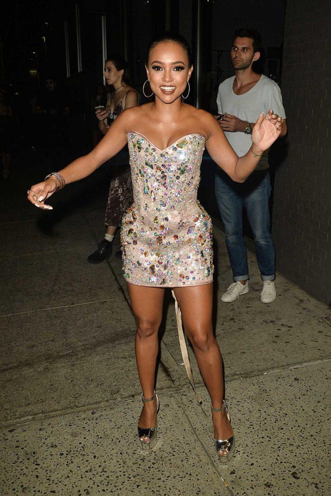Karrueche Tran Arrives at the Blonds Fashion Show During New York Fashion Week-1