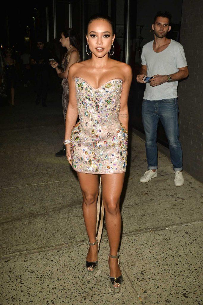 Karrueche Tran Arrives at the Blonds Fashion Show During New York Fashion Week-2