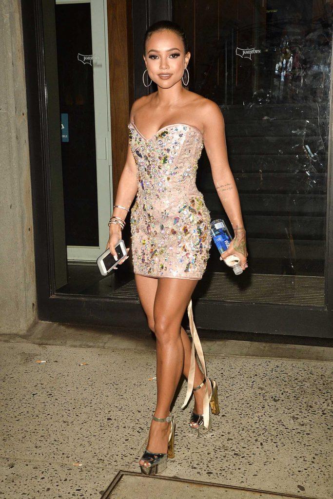 Karrueche Tran Arrives at the Blonds Fashion Show During New York Fashion Week-3