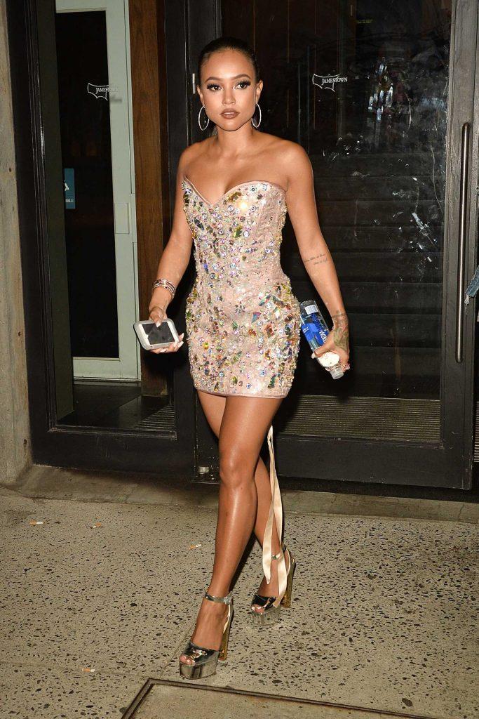 Karrueche Tran Arrives at the Blonds Fashion Show During New York Fashion Week-4