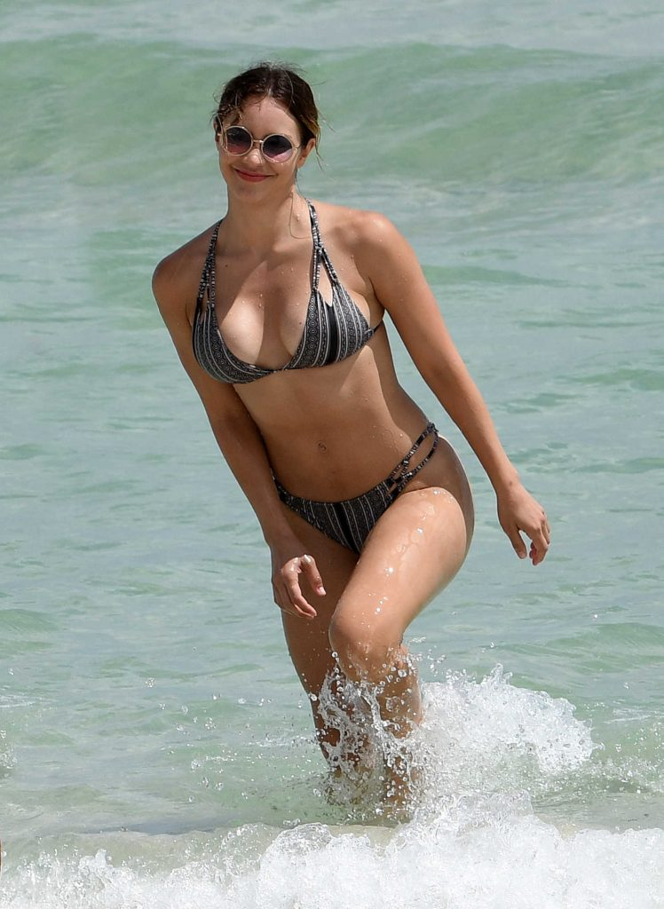 Katharine McPhee in Bikini at the Beach in Miami-1