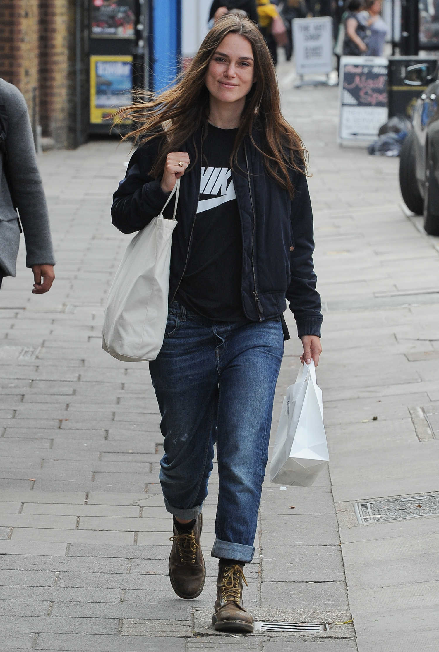 keira knightley was seen out in london celeb donut. Black Bedroom Furniture Sets. Home Design Ideas