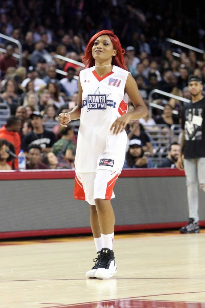 Keke Palmer Plays in the Power 106 Basketball Game in Los Angeles-1