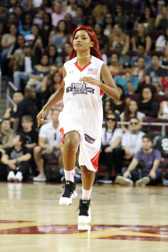Keke Palmer Plays in the Power 106 Basketball Game in Los Angeles-2