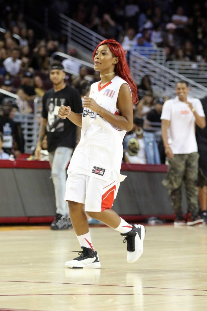 Keke Palmer Plays in the Power 106 Basketball Game in Los Angeles-3