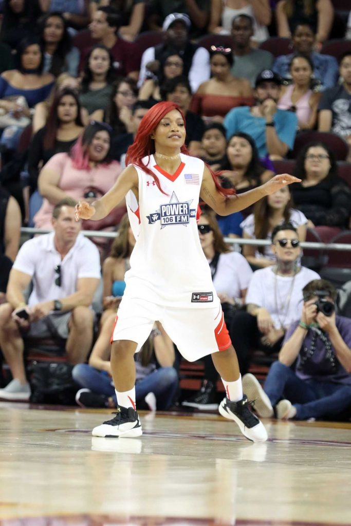 Keke Palmer Plays in the Power 106 Basketball Game in Los Angeles-4
