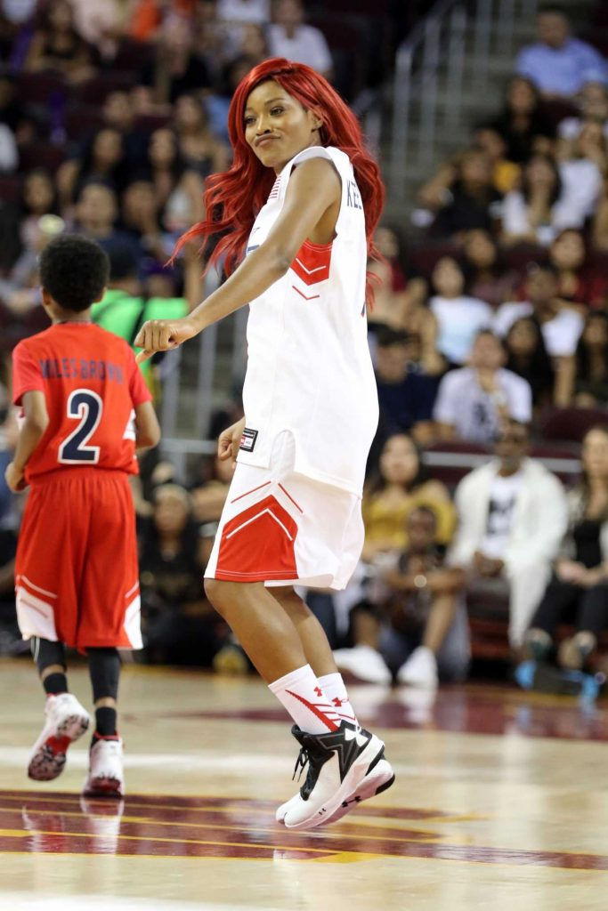 Keke Palmer Plays in the Power 106 Basketball Game in Los Angeles-5