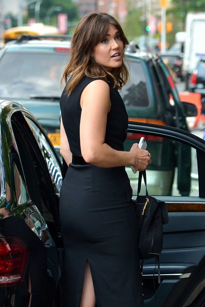Mandy Moore Hops Into Her Car in New York-1