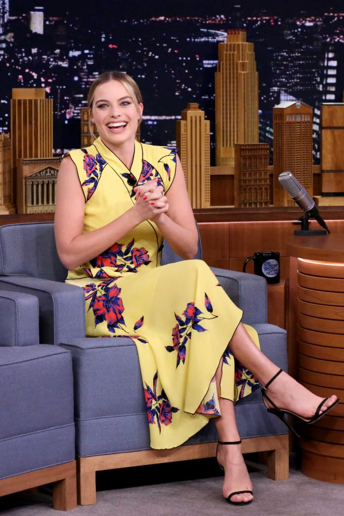 Margot Robbie at the Jimmy Fallon Tonight Show-1