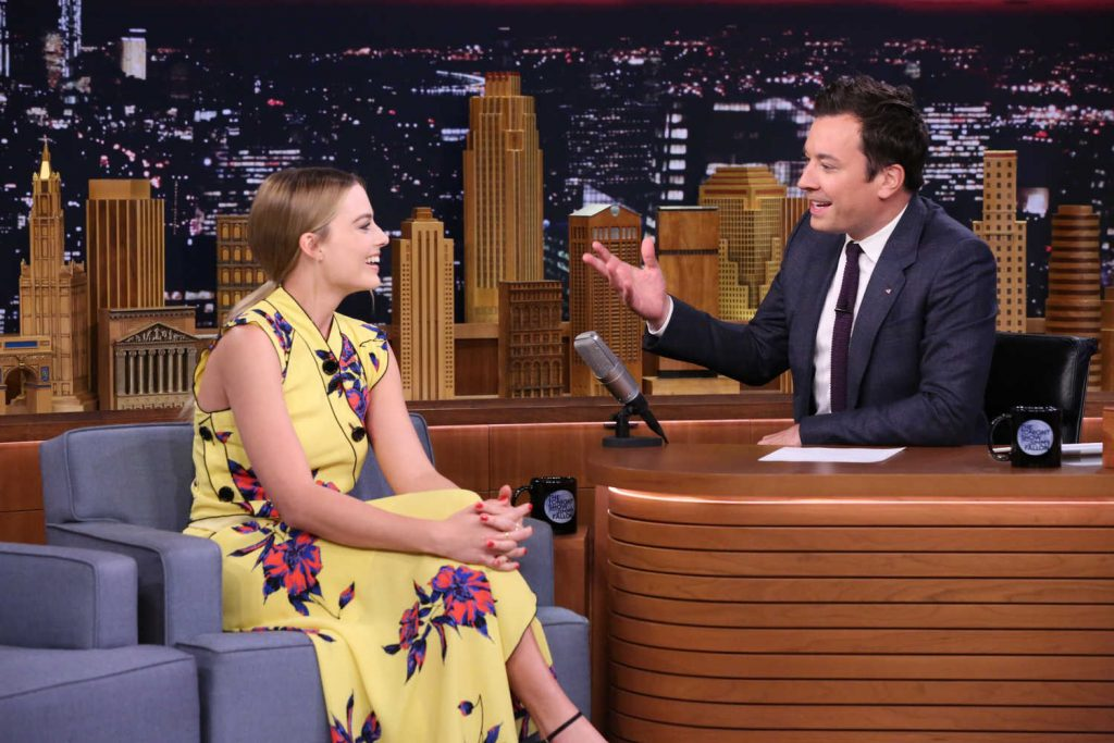 Margot Robbie at the Jimmy Fallon Tonight Show-2