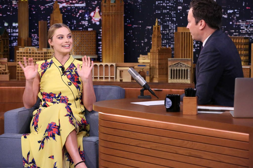 Margot Robbie at the Jimmy Fallon Tonight Show-4