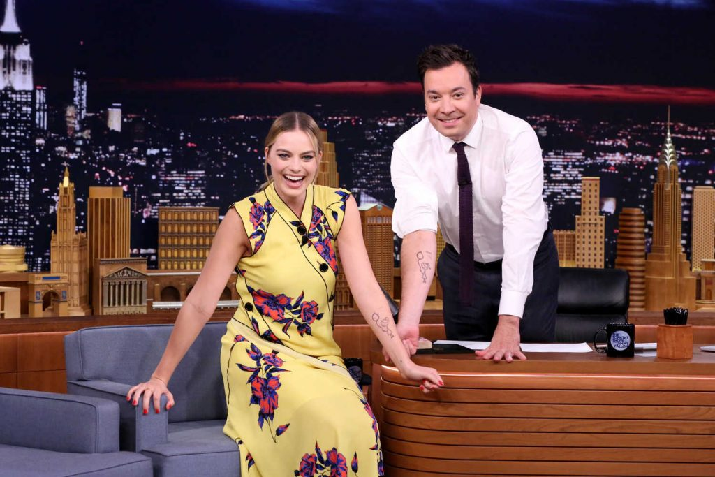 Margot Robbie at the Jimmy Fallon Tonight Show-5