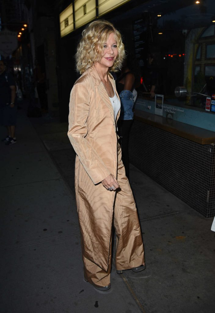 Meg Ryan Arrives to the Landmark Sunshine Theatre in New York-1