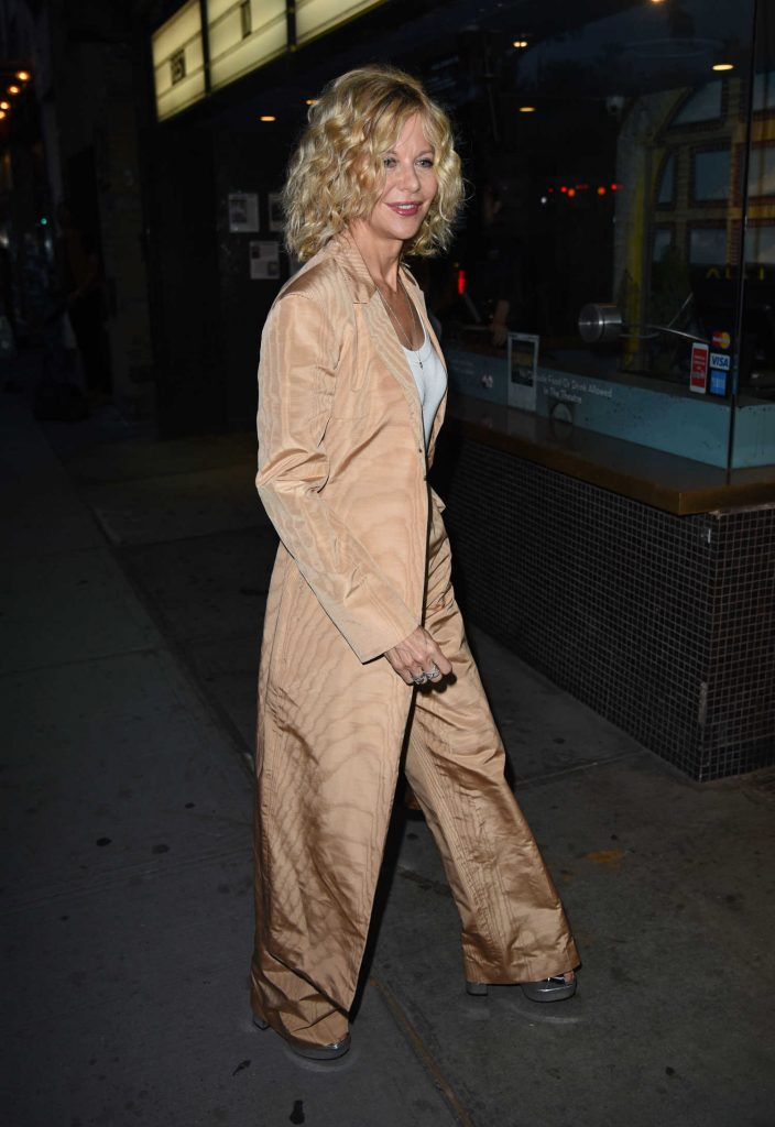 Meg Ryan Arrives to the Landmark Sunshine Theatre in New York-2