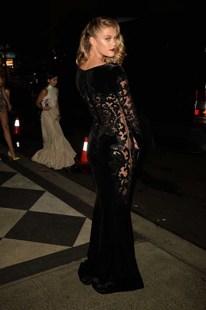 Nina Agdal at the Harper's Bazaar Celebrates ICONS Party During New York Fashion Week-2