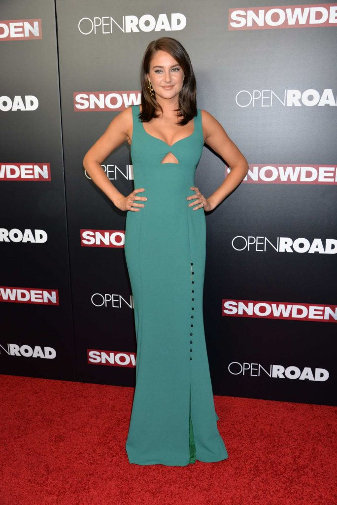 Shailene Woodley at the Snowden' Premiere in New York City-1