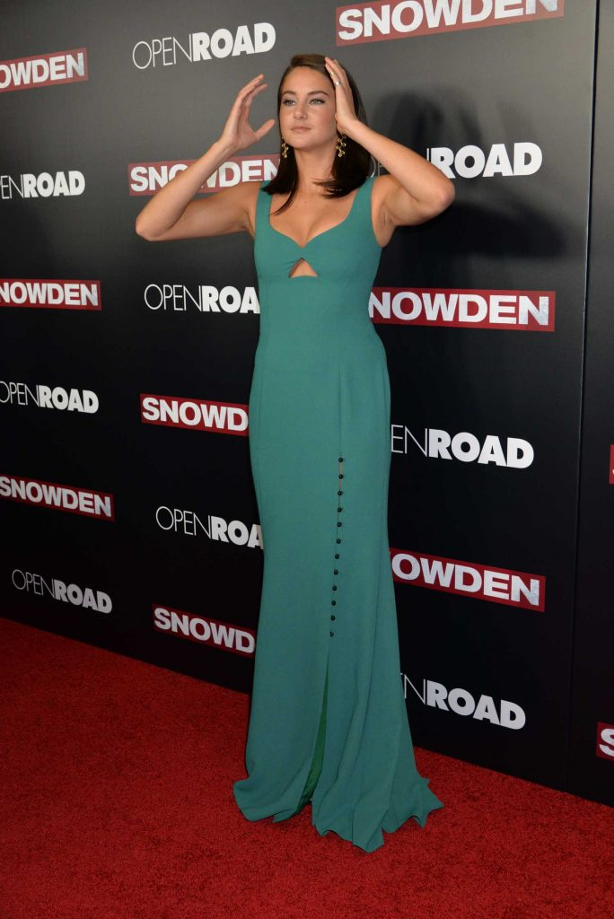 Shailene Woodley at the Snowden Premiere in New York City-2