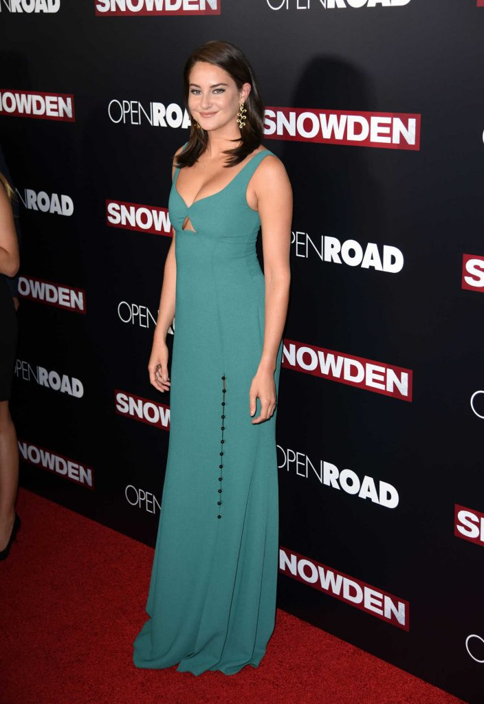 Shailene Woodley at the Snowden Premiere in New York City-3
