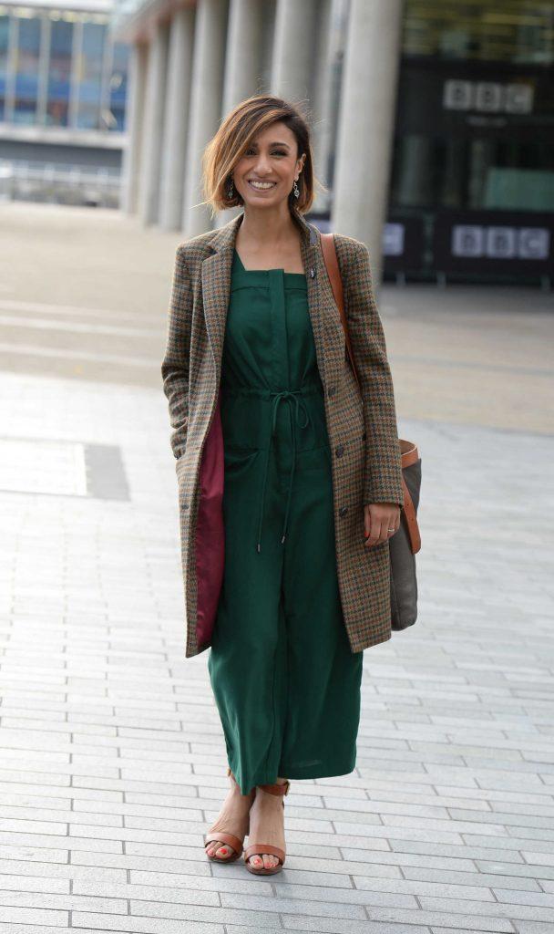 Anita Rani Leaves BBC Breakfast Studios in Manchester ...
