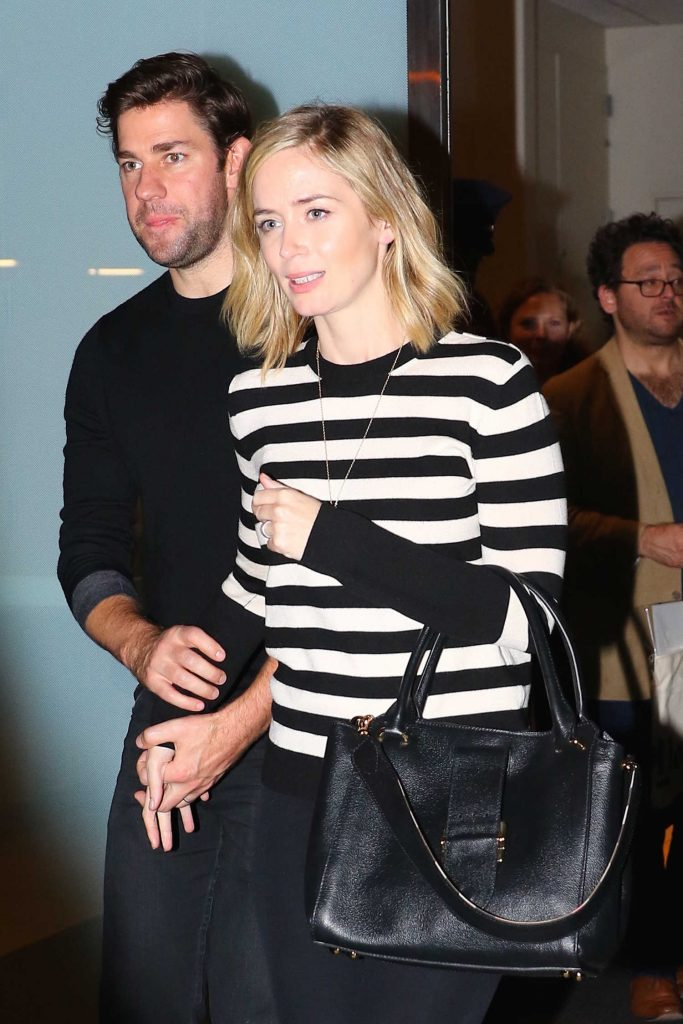 Emily Blunt Attends a Private Reading of Good Will Hunting in New York-1