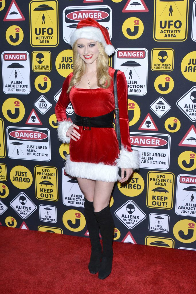Greer Grammer at the Just Jared Annual Halloween Party in Los Angeles-2