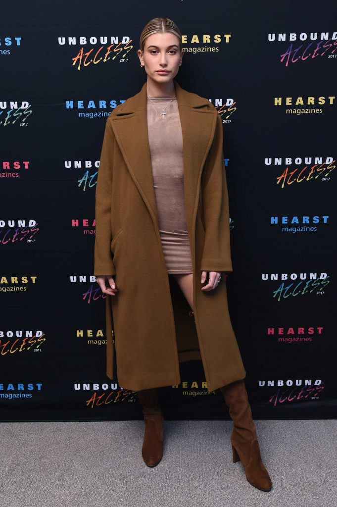 Hailey Baldwin Attends Hearst MagFront 2016 at Hearst Tower in New York City-1