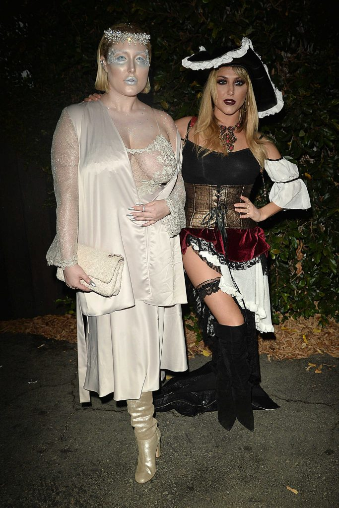 Hayley Hasselhoff at the Just Jared Annual Halloween Party in Los Angeles-3