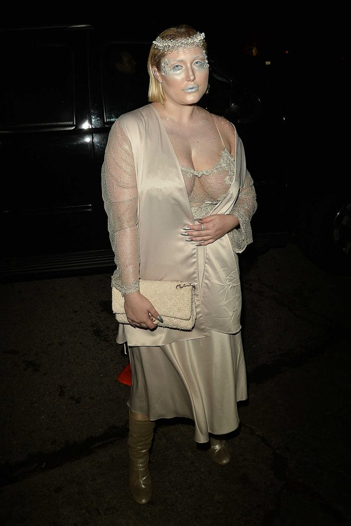Hayley Hasselhoff at the Just Jared Annual Halloween Party in Los Angeles-4
