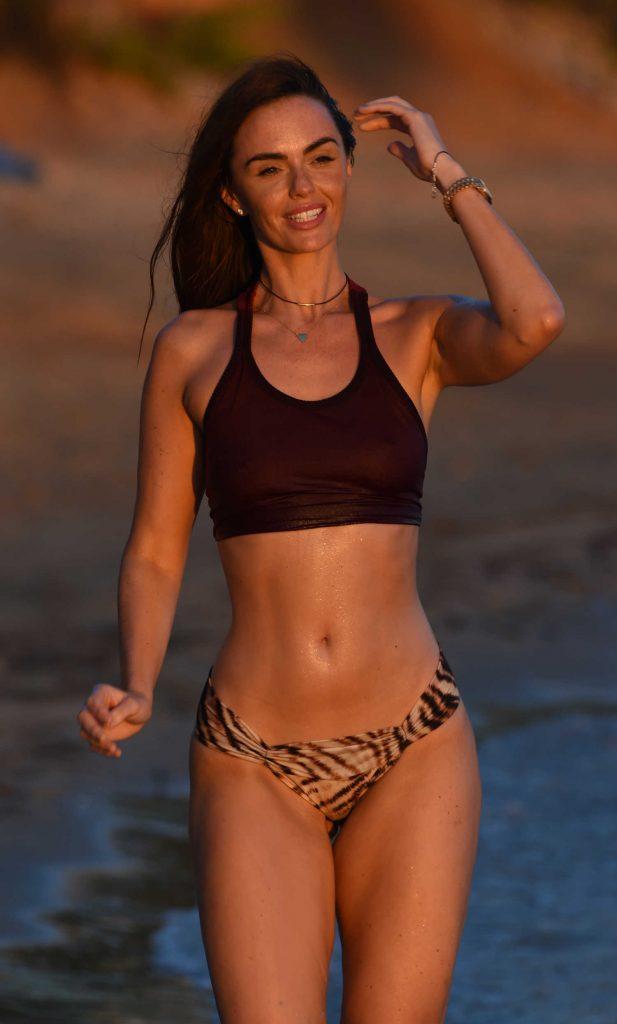 Jennifer Metcalfe in Bikini at the Beach in Ibiza-1