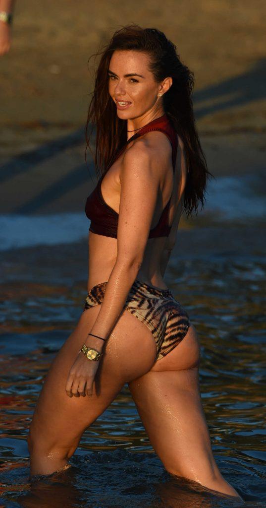 Jennifer Metcalfe in Bikini at the Beach in Ibiza-2