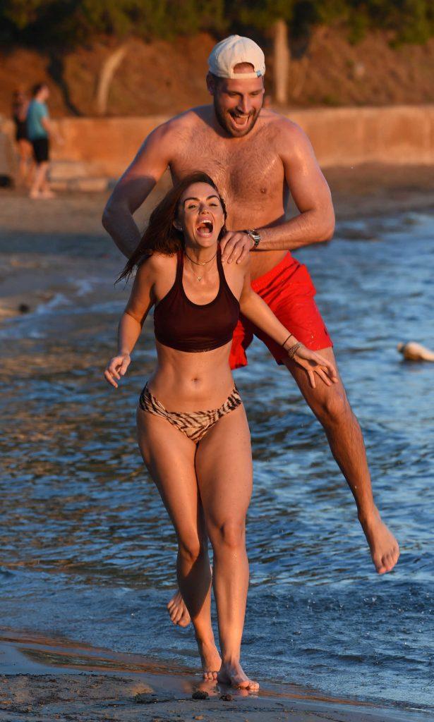 Jennifer Metcalfe in Bikini at the Beach in Ibiza-3