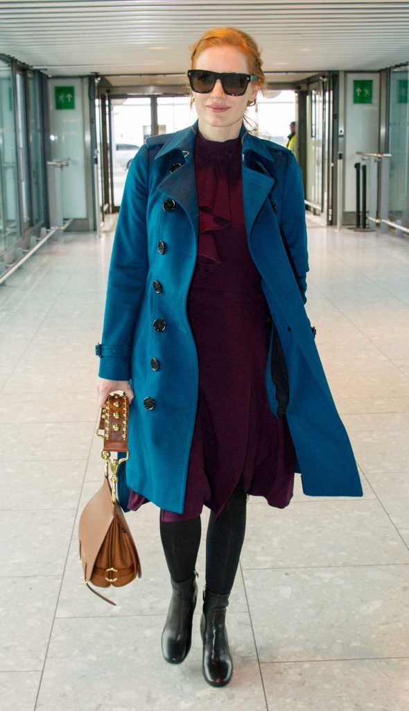 Jessica Chasten Was Seen at Heathrow Airport in London-1