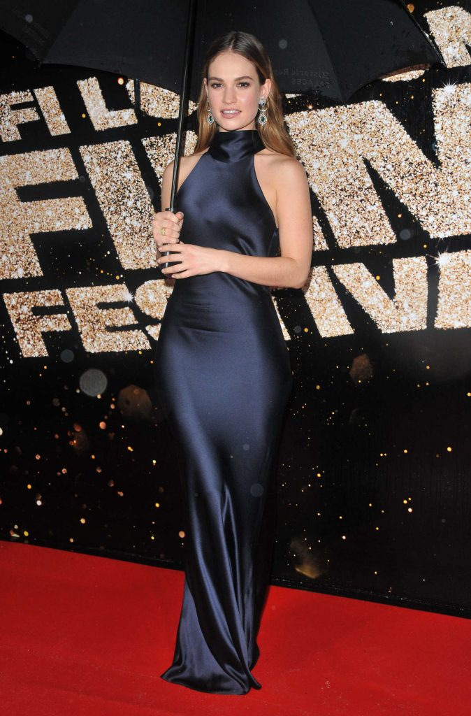 Lily James Was Seen at tte 60th BFI London Film Festival-1