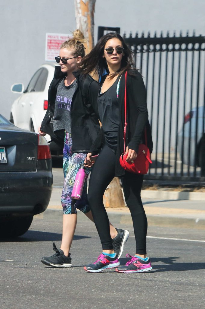 Nina Dobrev Leaves a Gym in West Hollywood-1