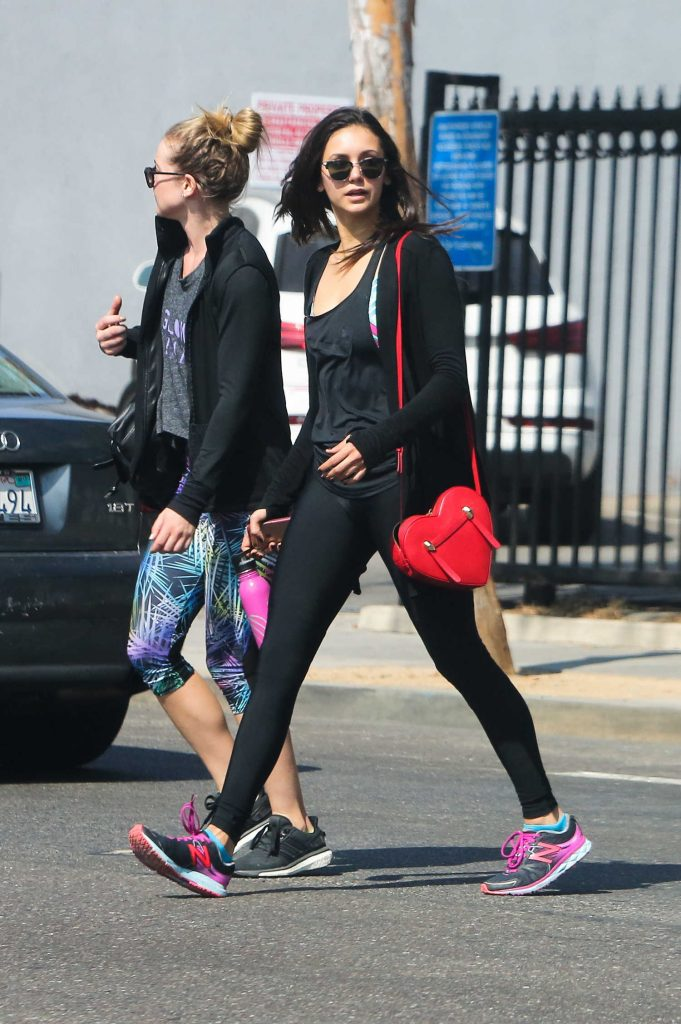 Nina Dobrev Leaves a Gym in West Hollywood-2