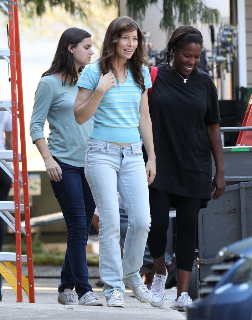 Jessica Biel on the Set of Shock And Awe in New Orleans-1