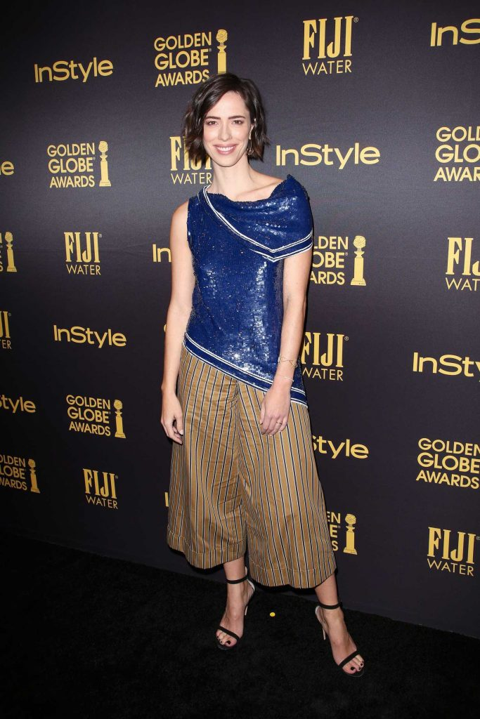 Rebecca Hall at the HFPA and InStyles Celebration of the 2017 Golden Globe Awards Season in West Hollywood-1
