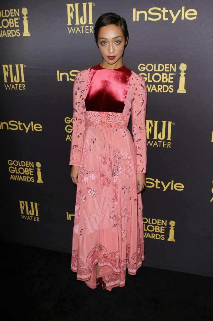 Ruth Negga at the HFPA and InStyles Celebration of the 2017 Golden Globe Awards Season in West Hollywood-1