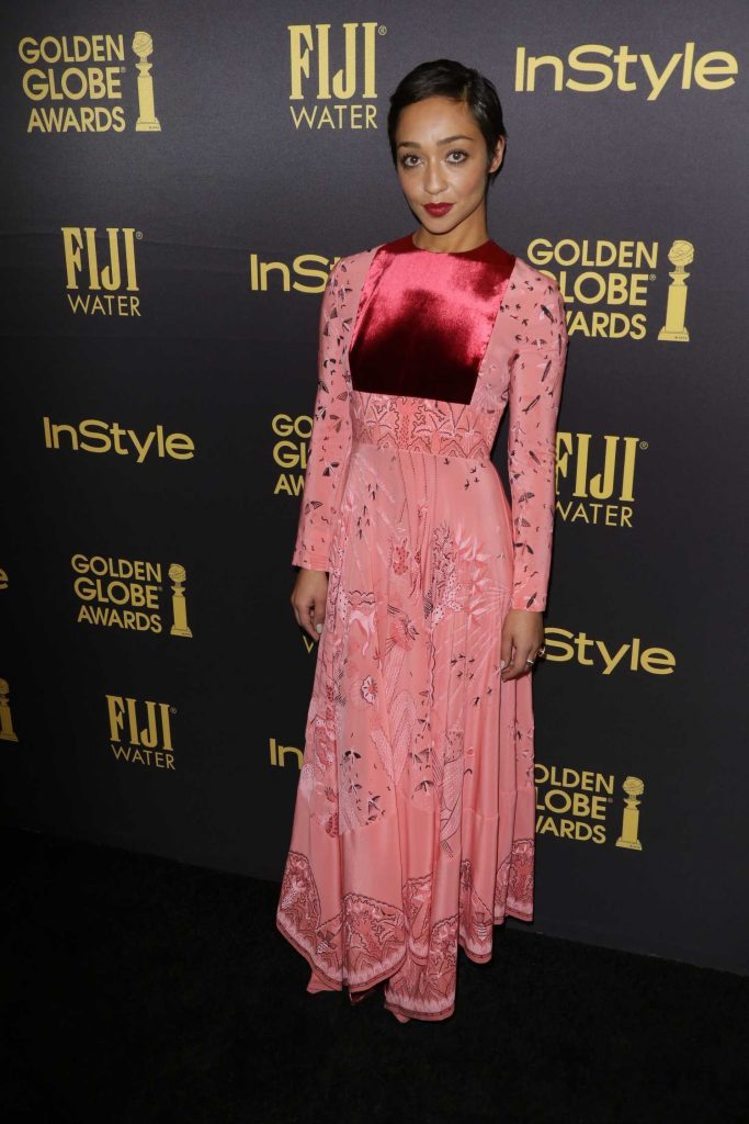 Ruth Negga at the HFPA and InStyles Celebration of the 2017 Golden Globe Awards Season in West Hollywood-2