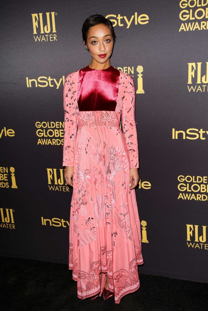 Ruth Negga at the HFPA and InStyles Celebration of the 2017 Golden Globe Awards Season in West Hollywood-3