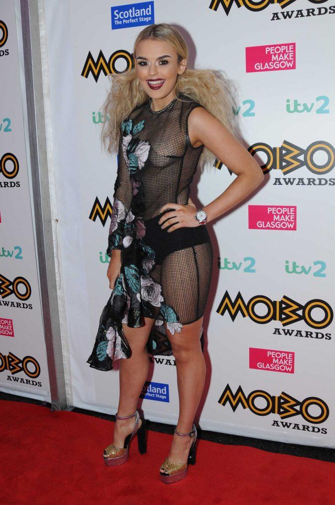 Tallia Storm at the MOBO Awards in Glasgow, Scotland-1