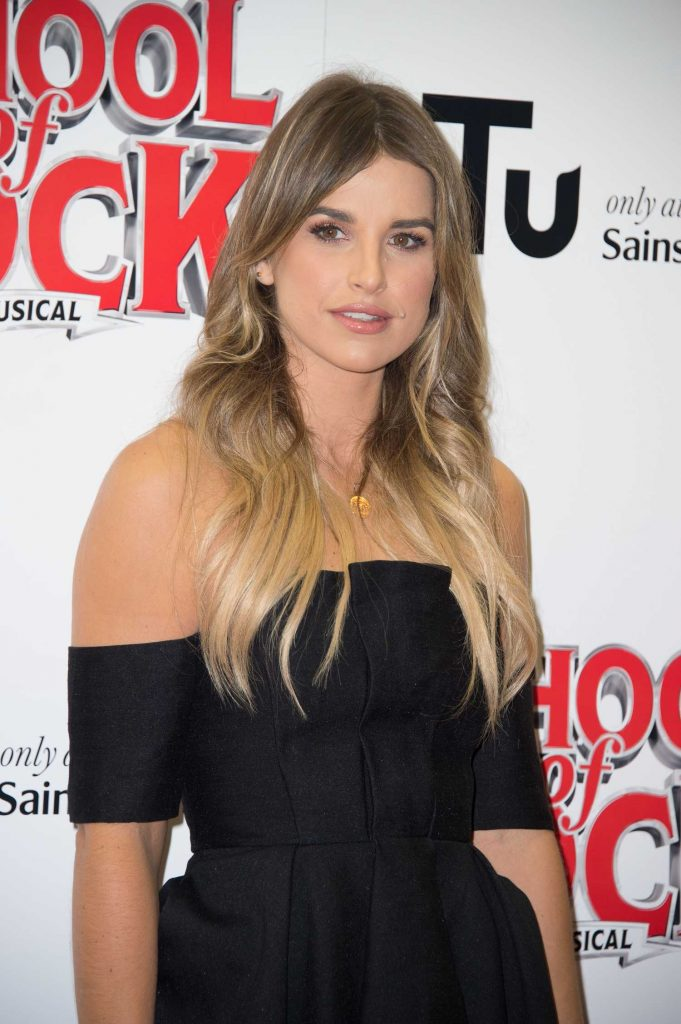 Vogue Williams at the School of Rock Musical VIP Night in London-3