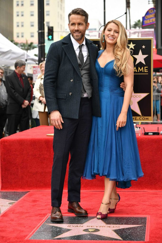 Blake Lively at Ryan Reynolds Honored With Star on the Hollywood Walk of Fame in Los Angeles-1