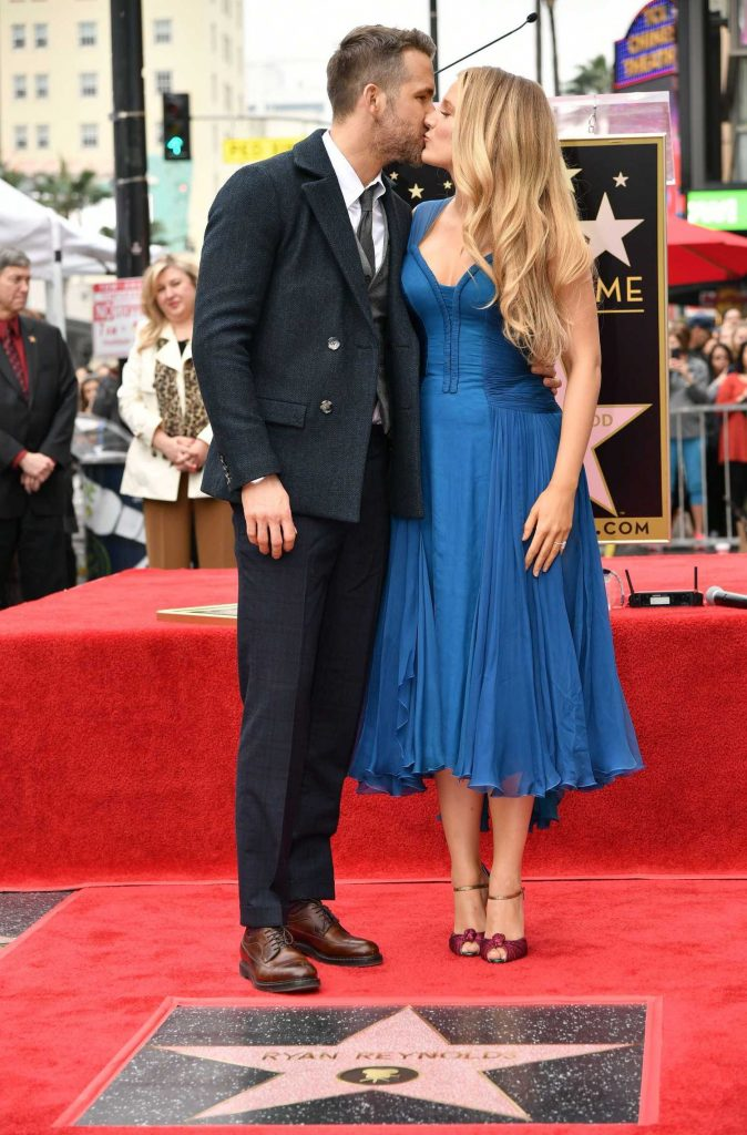 Blake Lively at Ryan Reynolds Honored With Star on the Hollywood Walk of Fame in Los Angeles-3
