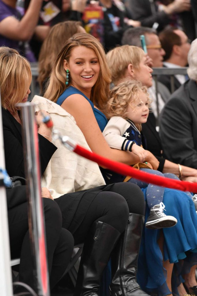 Blake Lively at Ryan Reynolds Honored With Star on the Hollywood Walk of Fame in Los Angeles-4