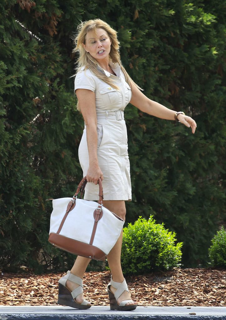 Carol Vorderman Arrives at Palazzo Versace Hotel on the Gold Coast-1