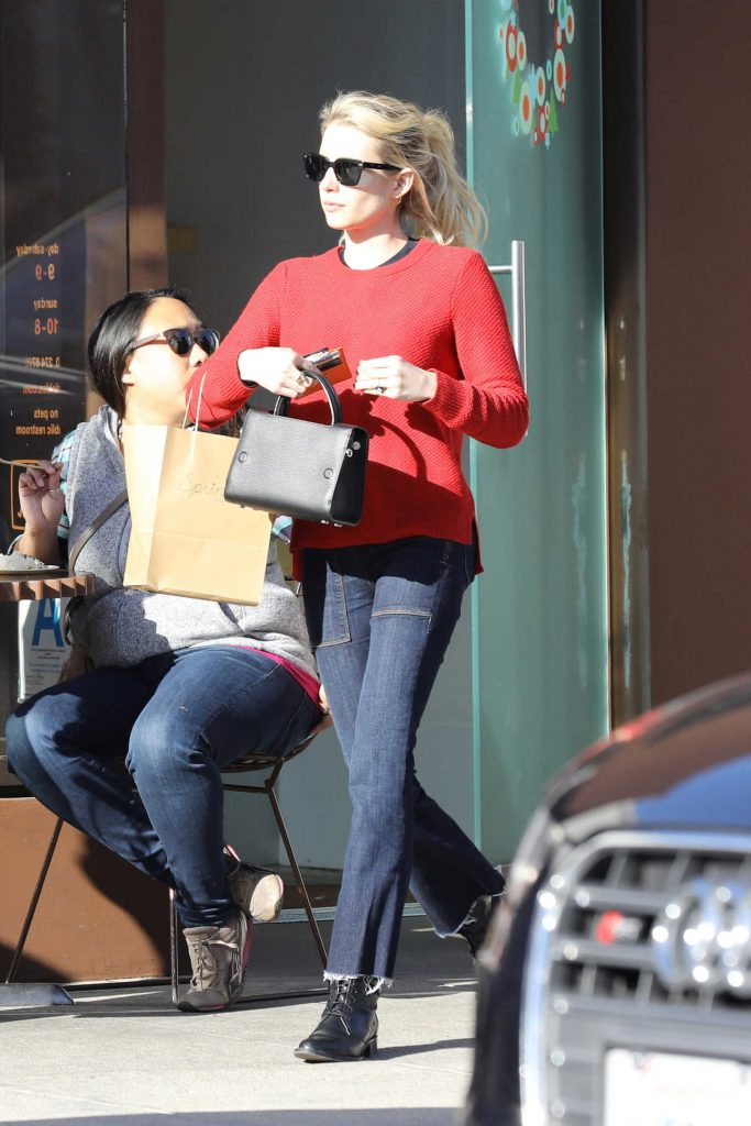 Emma Roberts Makes a Stop for Cupcakes in Beverly Hills-1