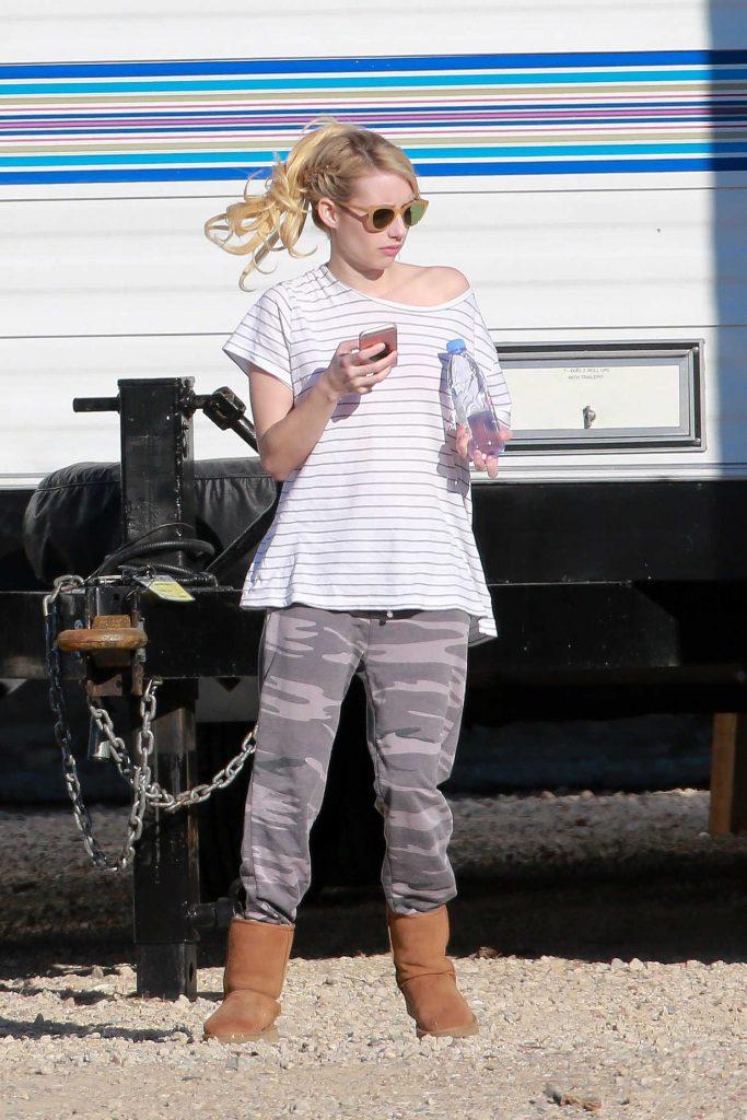 Emma Roberts on the Set of Scream Queens in Santa Clarita-1