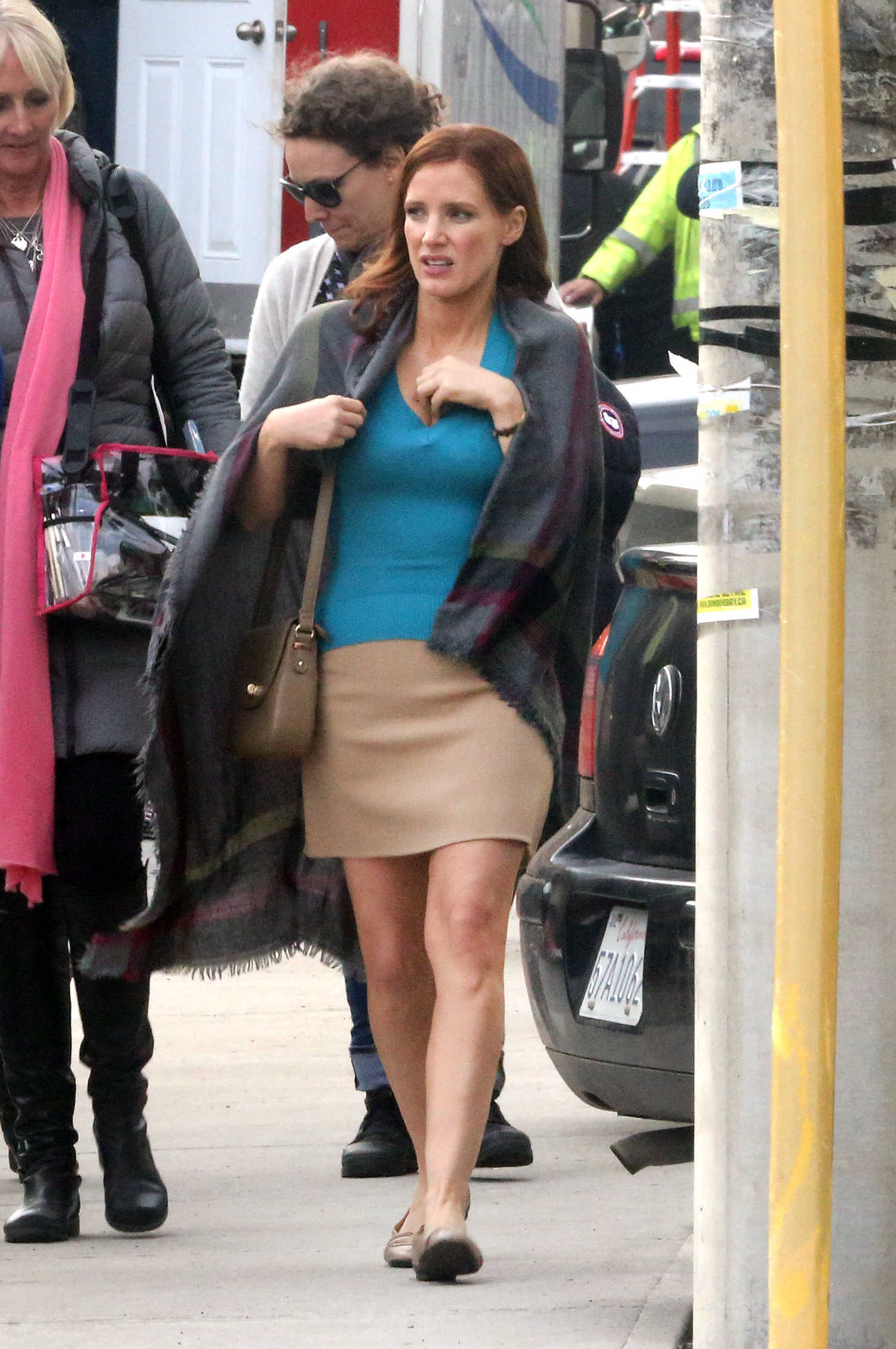 Jessica Chastain On Set Of The Mollys Game In Toronto