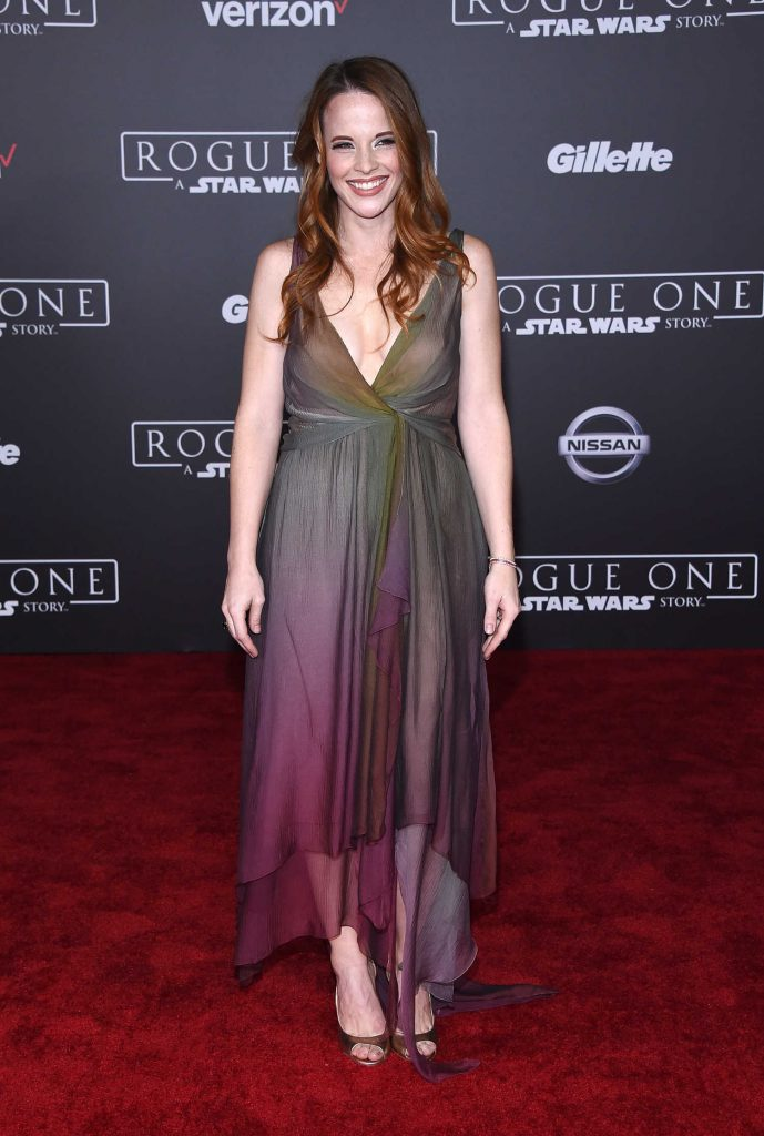 Katie Leclerc at the Rogue One: A Star Wars Story Premiere at the Pantages Theater in Hollywood-1